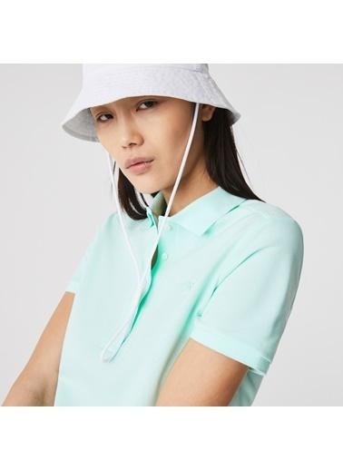 Lacoste Kadın Slim Fit Tişört PF5462.NRE Mavi